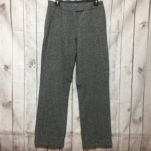 Pendleton Trousers Pants Womens 8 Wool Silk Gray
